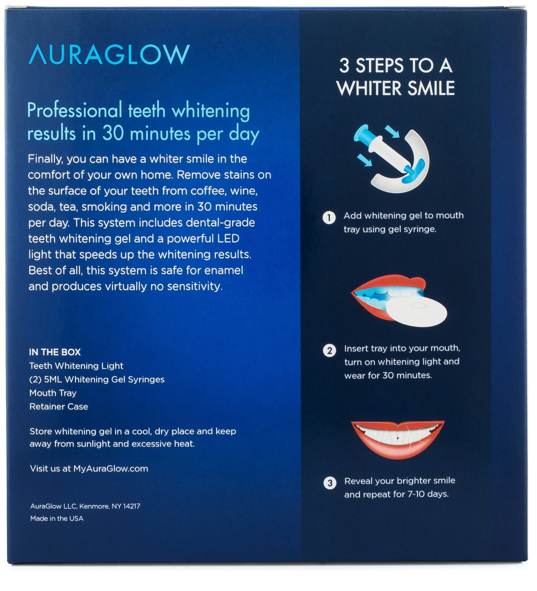 Auraglow Deluxe Home Teeth Whitening System Review Best Teeth Whitening Products Com