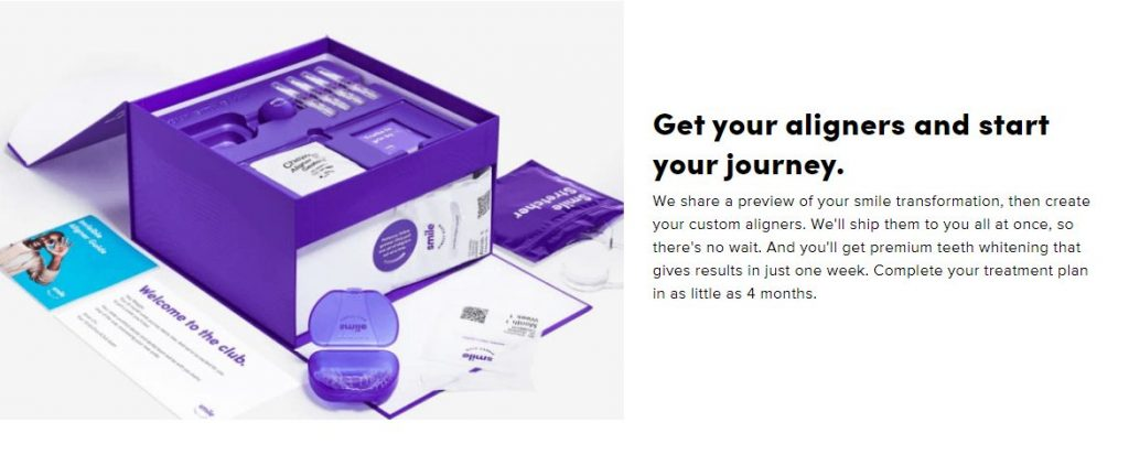 Get your aligners and start your journey.